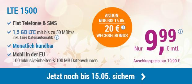 Nur noch bis 15.05. 20 € Wechselbonus